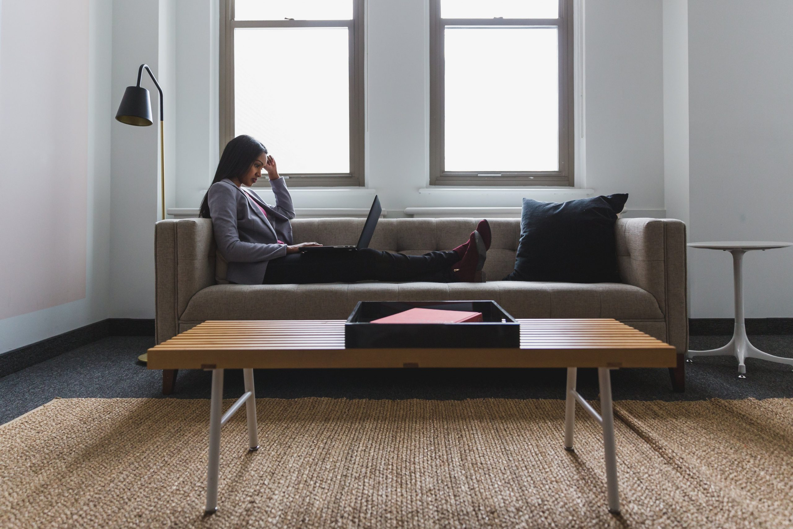 woman-relaxed-work