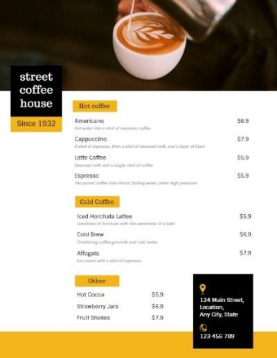 online-menu
